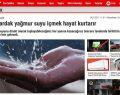 YANDAŞ BASIN! İSTANBUL'U SEL GÖTÜRDÜ,YAĞMUR SUYUNUN FAYDASI HABERİ YAPTILAR