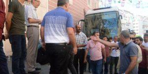 DİYARBAKIR'DA HDP'LİLERLE VATAN PARTİLİLER ARASINDA GERGİNLİK