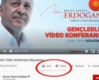 GENÇLER ERDOĞAN'A 'DİSLİKE' DEDİ,AKP DIŞ GÜÇLERE BAĞLADI