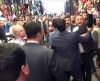 DAVUTOĞLU'NUN ESNAF ZİYARETİ YAPTIĞI ÇARŞIDAN MHP'LİLER ÇIKARTILDI